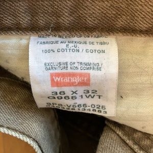 Brown Vintage Wrangler Jeans 36 x 32